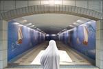 Jeffris Elliott: Muslim Woman in White Burka, 2008
