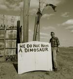 Steve Fitch: Snakepit operator, Highway 66, Sayre, Oklahoma, 1973